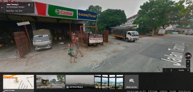 Nosotros en Google Street View